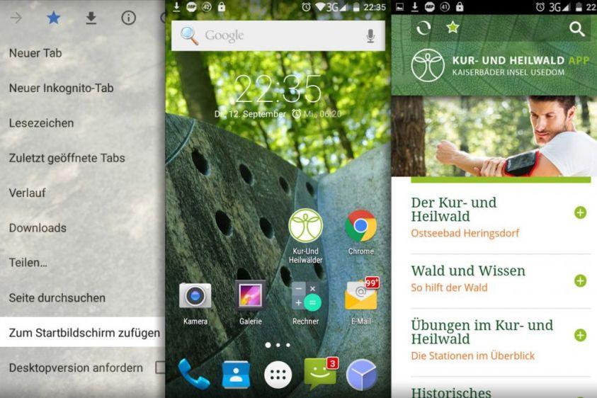Die Waldapp auf Android
