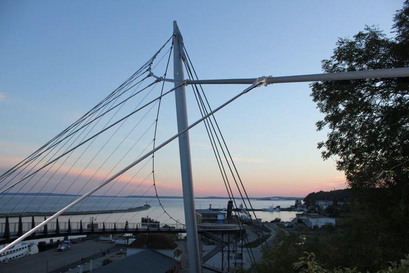 Schwebebrücke im Sassnitzer Hafen