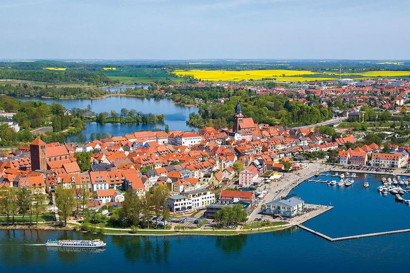 Luftbild Stadt Waren