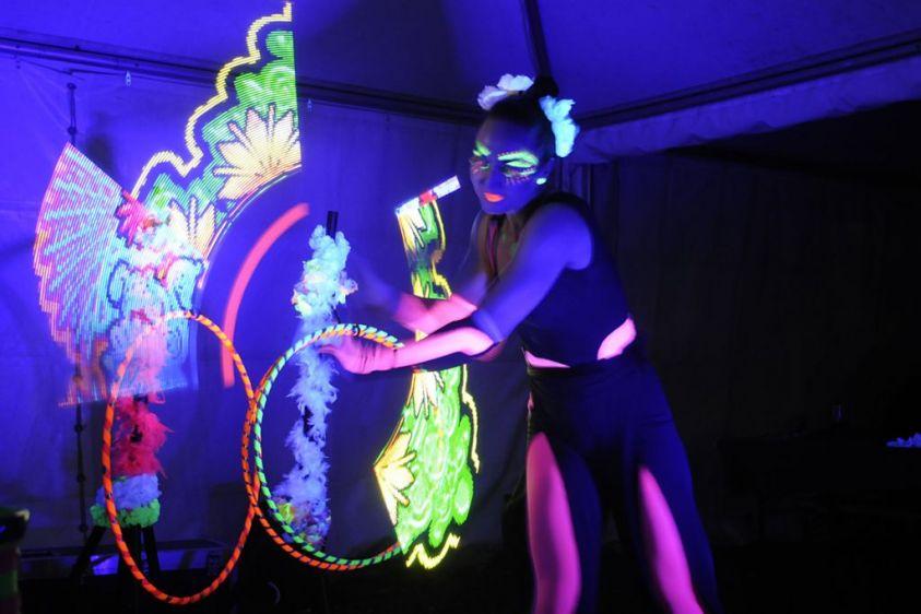 Heringsdorf, Glow Show am Abend